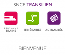 Accueil Application Transilien
