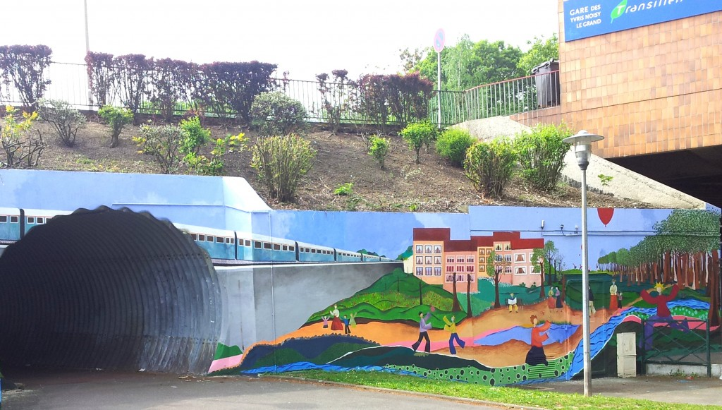 Fresque en gare des Yvris Noisy le GrandYvris