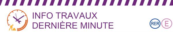 Info TVX dernière minute RER E